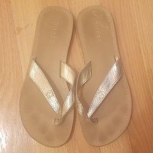Guess Metallic Flip Flops